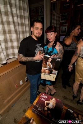 kim kate in Inked Magazine Sailor Jerry Calendar Release Party