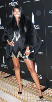kim porter in Diddy 40th Birthday