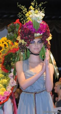 kimberly leemans in Tulips & Pansies  Headdress the Affair