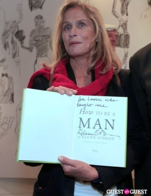 lauren hutton in How To Be A Man Book Launch