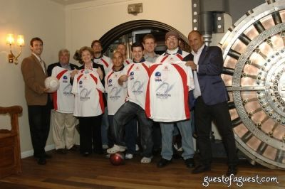 larry belinski in USA Homeless Soccer Team Jersey Presentation at Cipriani Wall Street
