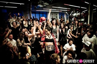 leila fazel in Celebrity Fight4Fitness Event at Aerospace Fitness