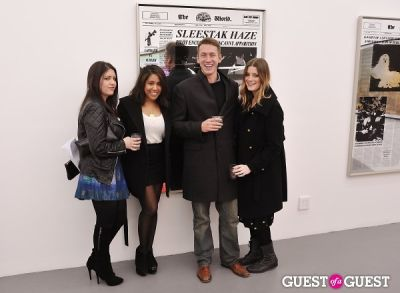 sky mccarthy in Bowry Lane group exhibition opening at Charles Bank Gallery