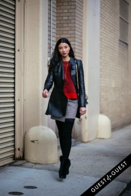 lily kwong in NYFW Street Style Day 8