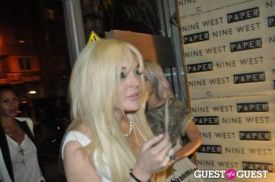 lindsay lohan in Karen Elson Paper Magazine Party