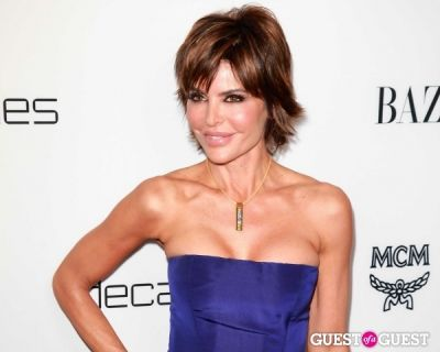 "lisa rinna in Harper's Bazaar to Celebrate Cameron Silver & Christos Garkinos of Decades and Bravo's ""Dukes of Melrose"""