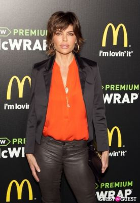 lisa rinna in McDonald's Premium McWrap Launch With John Martin and Tyga Performance