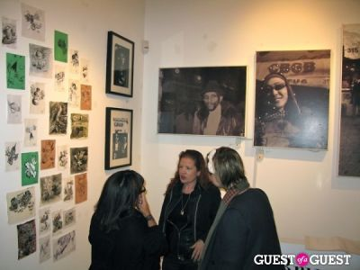 christine clauser in BYE BYE CBGB, Bruno Hadjadj Opening Reception at Clic Gallery