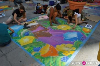 vera paras in Pasadena Chalk Festival