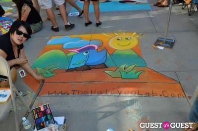 liz reznak in Pasadena Chalk Festival