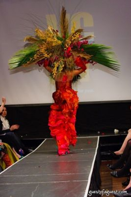 liza bagerman in VCNY - Tulips & Pansies- A Headdress Affair - Runway and Backstage