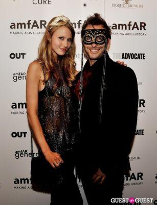 lucie basamanowicz in amfAR's generationCURE Masquerade