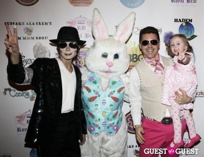 easter bunny in Cupcakes That Care Red Carpet Family Event