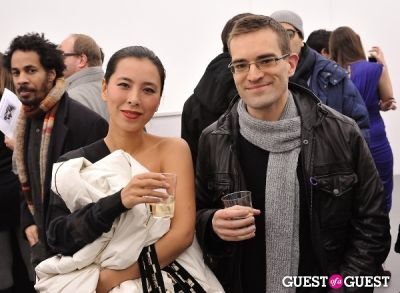 mai ueda in Bowry Lane group exhibition opening at Charles Bank Gallery