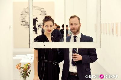 michael bank-christoffersen in Mauro Bonacina exhibition opening reception