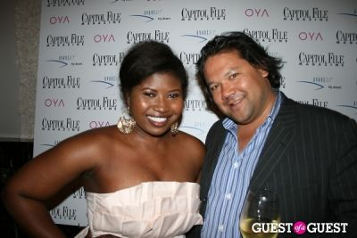 makeda saggau-sackey in Capitol File Magazine Party with Anna Kournikova
