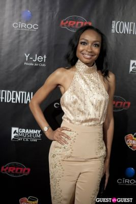 malina moye in Los Angeles Confidential Grammy Party With Robin Thicke - Arrivals