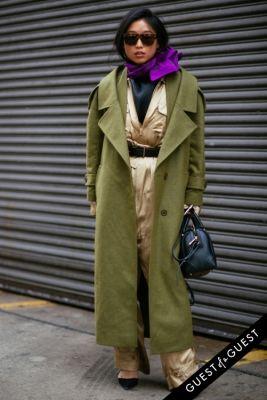 maragret zhang in NYFW Street Style Day 8