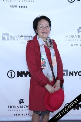 margaret chin in Hornblower Re-Dedication & Christening at South Seaport's Pier 15