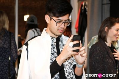 mark eric in Spring Selfie at Owen hosted by Danielle Bernstein of We Wore What