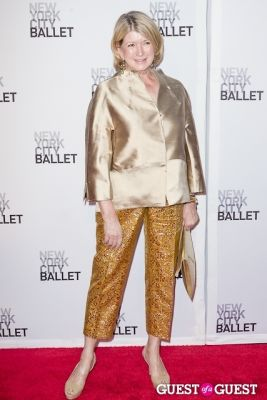 martha stewart in New York City Ballet's Fall Gala