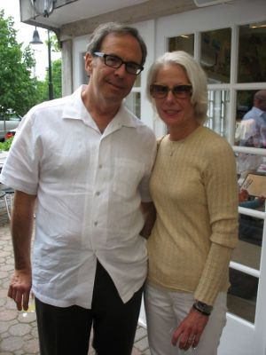 heather moore in Serafina East Hampton Opening