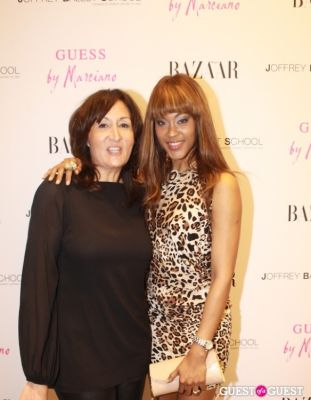 mary jimenez in Guess by Marciano and Harper's Bazaar Cocktail Party