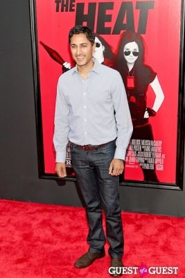 maulik pancholy in The Heat Premiere