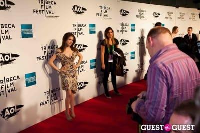 meg montgoris in Tribeca Film Festival 2011. Opening Night Red Carpet.