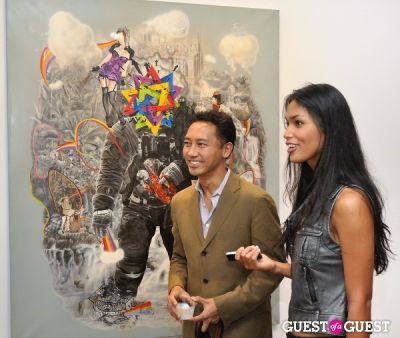 michael balaoing in Ronald Ventura: A Thousand Islands opening at Tyler Rollins Gallery