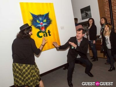 michael wolf in Cat Art Show Los Angeles Opening Night Party at 101/Exhibit
