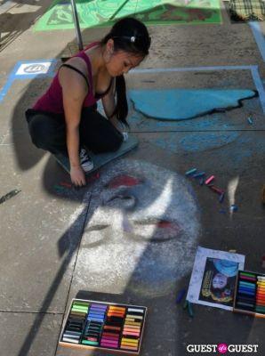 miho ueda in Pasadena Chalk Festival