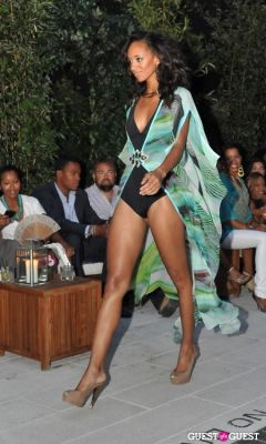 model etaylor in Beloved Star Beachwear Launch