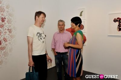 nels cline in Inglorious Materials exhibition opening at Charles Bank Gallery
