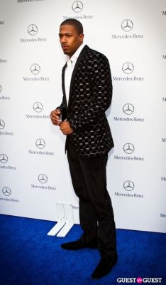 nick cannon in Mercedes Benz Manhattan Grand Opening