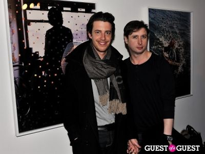 nick haramis in Garrett Pruter - Mixed Signals exhibition opening