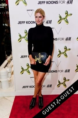 nicky hilton in Jeff Koons for H&M Launch Party