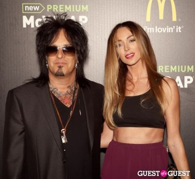 nikki sixx in McDonald's Premium McWrap Launch With John Martin and Tyga Performance