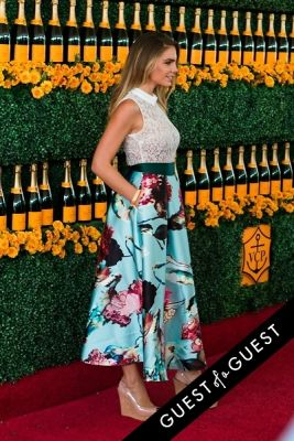 nina senicar in The Sixth Annual Veuve Clicquot Polo Classic Red Carpet