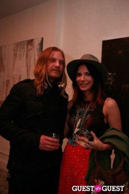caitlyn nelson in Brian Sensebe + Federico Saenz-Recio opening reception