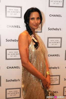 padma lakshmi in The New York Academy Of Art's Take Home a Nude Benefit and Auction