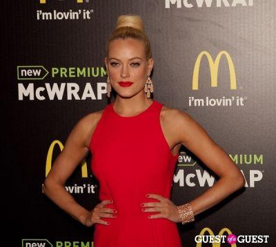 peta murgatroyd in McDonald's Premium McWrap Launch With John Martin and Tyga Performance