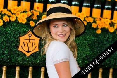 poppy jamie in The Sixth Annual Veuve Clicquot Polo Classic Red Carpet