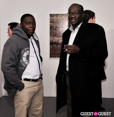 david addo-ashong in Garrett Pruter - Mixed Signals exhibition opening