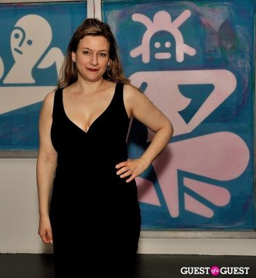 rachel moog in Ryan McGinness - Women: Blacklight Paintings and Sculptures Exhibition Opening
