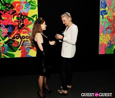 christin clifford in Ryan McGinness - Women: Blacklight Paintings and Sculptures Exhibition Opening
