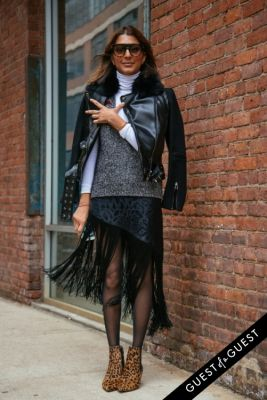 ramya giangola in NYFW Street Style Day 3