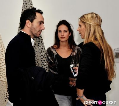 "raphael camp in Ricardo Rendon ""Open Works"" exhibition opening"