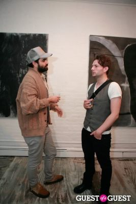 stephen kelleher in Brian Sensebe + Federico Saenz-Recio opening reception