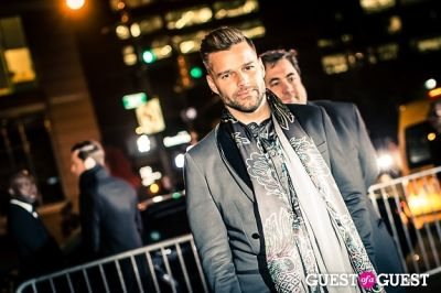 ricky martin in Giorgio Armani One Night Only NYC event.